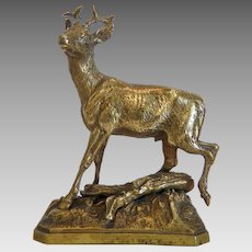 Bronze figure of a roebuck, early 20th century