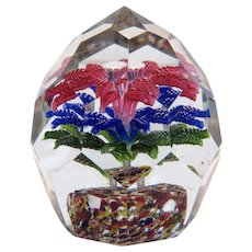 Antique crystal glass paperweight, ca. 1900