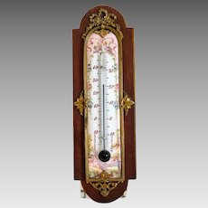 Antique French porcelain thermometer, 19th century