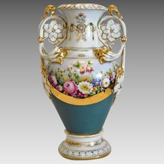 Antique Royal Vienna flower urn, hand painted, ca. 1900