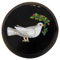 Antique Roman Micro Mosaic depicting a white dove, early 19th century
