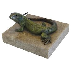 Antique Vienna Bronze figure of a lizard, late 19th century