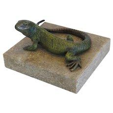 Antique Vienna Bronze figure of a lizard, late 19th century