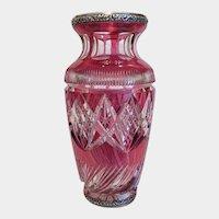 Antique Cranberry lead crystal vase, ca. 1900