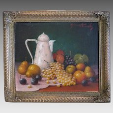 Painting oil on wood, signed and dated early 20th century