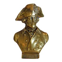 Antique brass paperweight of Frederick II, 19th century