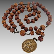 Antique  Italian Rosary, Pompei (Naples)  late  19th century