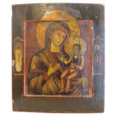 Antique Russian Icon depicting the Holy Virgin, 19th century