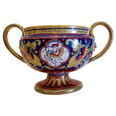 Italian hand made luster glazed vase by Alberto Rubboli, ca. 1920