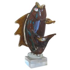 Vintage Murano  glass fish sculpture, ca. 1950