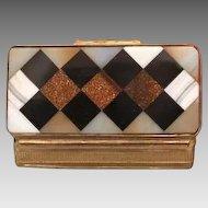 Antique Italian  Pietra Dura snuff box, 19th century