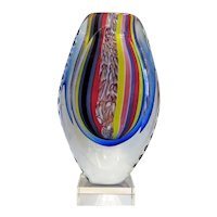 Vintage Murano glass vase, hand blown, ca. 1950