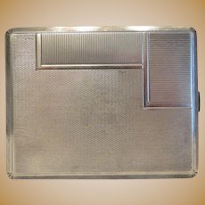 Antique cigarette case, silver 800, ca. 1900