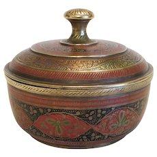 Antique Gilt Bronze Enamel box, late 19th century