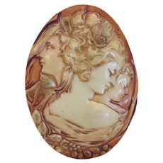 Art Deco Bakelite Cameo belt buckle, ca. 1920