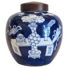 Antique Chinese Kangxi tea caddy, 19th century