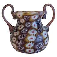 Vintage Murano Millefiori  glass vase , ca. 1920