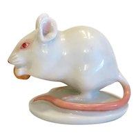 Vintage Augarten porcelain mouse figure, 1st half 20th century