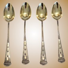 Antique Imperial Russian  silver tea spoons, ca. 1910