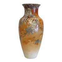 Art Deco hand painted pottery vase, ca. 1930