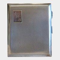 Solomon Blanckensee sterling silver cigarette case, hallmarked, ca. 1930