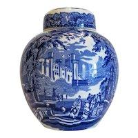Mason´s blue and white tea jar, ca. 1940