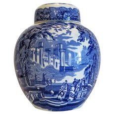 Mason´s blue and white tea jar, ca. 1940