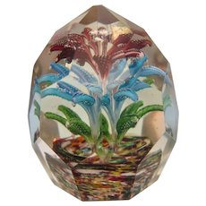 Antique Bohemian glass paperweight, ca. 1900