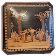 Antique Italian wooden box, 19th century