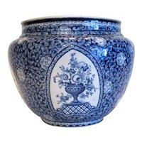 Antique Royal Bonn blue and white flower pot, ca. 1900