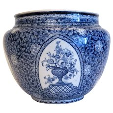 Antique Royal Bonn blue and white flower pot, ca. 1900