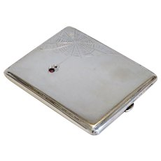 Antique cigarette case, silver 900, ca. 1910