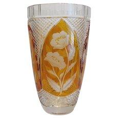 Vintage  Bohemian lead crystal vase, ca.1930
