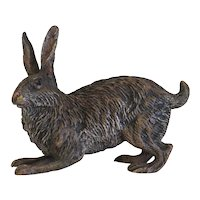 Vienna Bronze rabbit figure, signed Bergmann, early 20th century