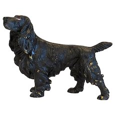 Vienna Bronze Spaniel figure, signed Bergmann, early 20th century