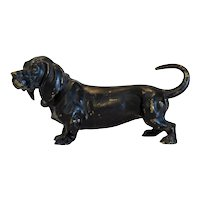 Antique Vienna Bronze figure of a Dachshund, 19th century