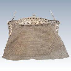 Art Nouveau silver purse, hallmarked 925, ca.1900