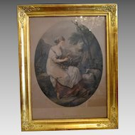 Antique print after a painting by Angelika Kauffmann 1741-1801, 18th century