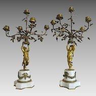 Empire Gilt Bronze candelabra, first half 19th century