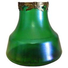 Art Nouveau Loetz vase with gilt metal rim, late 19th century