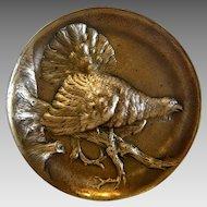 Antique Vienna Bronze trinket tray, signed Berndorf, 19th century