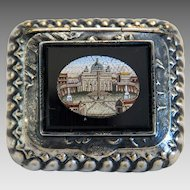Antique Roman Micro Mosaic silver box, 19th century