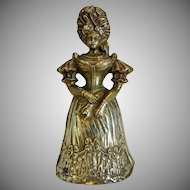 Antique Gilt Bronze dinner bell, 19th century