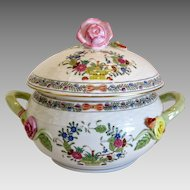 Herend porcelain Tureen Multi Color Indian Basket, mid 20th century