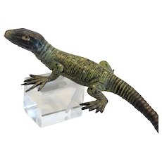 Vienna Bronze green lizard figure, ca. 1900