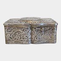Antique silver Singing Bird Box, ca. 1900