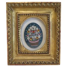 Antique Micro Mosaic depicting flowers, 19th century