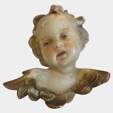 Antique Gesso Cherub figure, 19th century