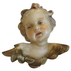 Antique Gesso Cherub figure, 19th century