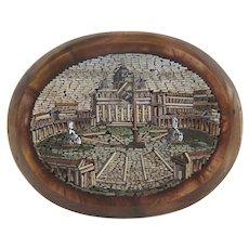 Antique Roman Micro Mosaic, 19th century
